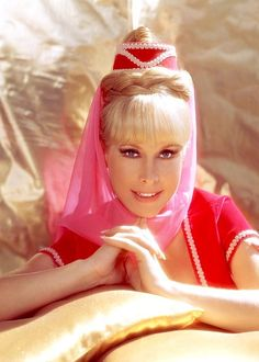 """Barbara Eden. Publicity shot for 1970s """"I Dream of Jeannie"""". One of my all time favorite shows!! I thought she was soooo pretty!"""