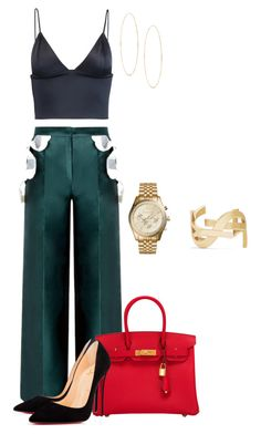 """Simple but effective and sexy"" by renelleboodoosingh on Polyvore featuring T By Alexander Wang, Hermès, Yves Saint Laurent, Lana, Michael Kors and Christian Louboutin"