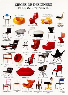 Iconic chairs of history Funky Furniture, Furniture Styles, Furniture Design, Retro Interior Design, Mid Century Furniture, Chair Design, Interior And Exterior, Mid-century Modern, Room Decor