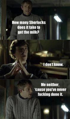 Sherlock doesn't do 'chores' ...