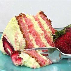 Strawberry Lemonade Layer Cake  (: