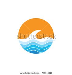 Water Wave Logo Template. vector Icon illustration