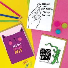 Motivational Cards, Good Luck Cards, Prepping, Greeting Cards, Positivity, Free, Prep Life, Optimism