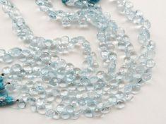 Swiss Blue Topaz Beads Blue Topaz Faceted Heart by gemsforjewels