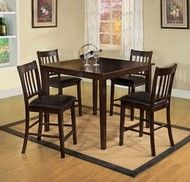 5 PC Furniture of America West Creek II Counter Dining Room Table Set CM3012PT-5PK