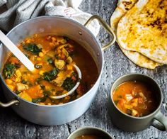 Harira is a hearty Moroccan soup full of flavour, and also makes a great light dinner. I love brothy soups like this one when it's cold out.