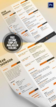 Free Resume Template  Cover Letter  Free Psd Files