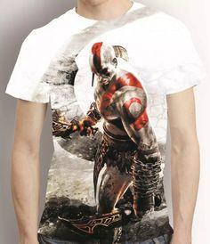 camisa game camiseta god of war 3 kratos - estampa total