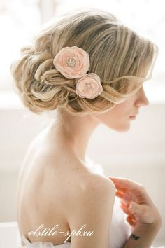 Long Wedding Hairstyles and Bridal Updo Hairstyles for Long Hair from elstile-spb / http://www.deerpearlflowers.com/striking-long-wedding-hairstyle-ideas/2/