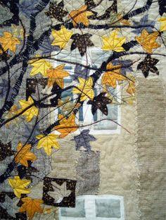 Bozena's Autumn art quilt #craft #diy