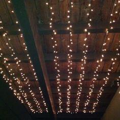 Beautiful way to light a balcony/deck, nice job @Callie Spaide!