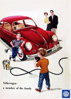 VW Volkswagen Beetle A Member Of Family 1958 - Mad Men Art: The 1891-1970 Vintage Advertisement Art Collection