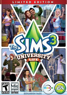 The Sims 3 University Life! Want this!