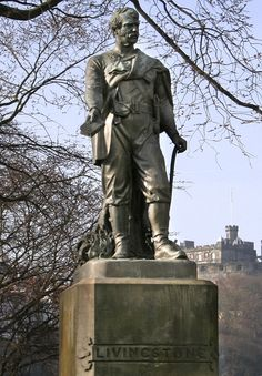 "David Livingstone (1813~1873) was born in Blantyre, S. Lanarkshire. A doctor and missionary, he traveled to Africa and charted previously unknown bodies of water including the Zambezi River and Victoria Falls. Sent to find Livingstone, journalist Henry Stanley, upon locating him uttered the now well-know words, ""Dr. Livingstone, I presume?"""