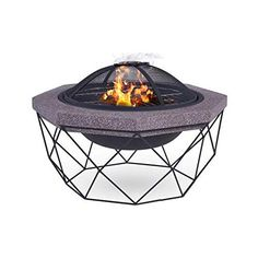 fold portable fire pit mesh firepit stand outdoor camping patio barbecue tool