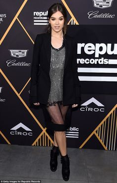 She''s a star: Hailee Steinfeld made sure to turn heads while at the Republic Records Gram...