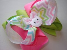 Girl's Toddler's Large Easter Triple Loop Twisted by bowtowne, $8.95
