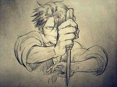 Levi Ackerman, knife; Attack on Titan