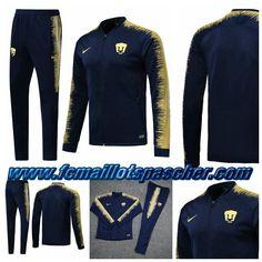 a687a8a5e54 Magasin Nike Survetement Homme - Veste Pumas UNAM Bleu Fonce Jaune  2018 2019 Thailande