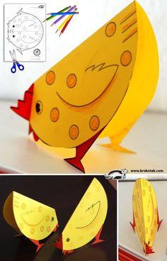 Chicken Craft... also Rabbit printable templates