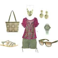 """Summer green"" by willowtree24 on Polyvore"