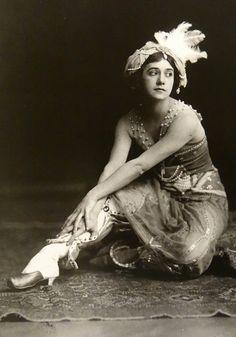 "Tamara Karsavina, 1911, Zobeida from ""Scheherazade"". Photo by E.O. Hoppe."
