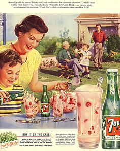 7Up Float - ad from Saturday Evening Post, July 1952