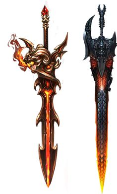 Fire Elemental Weapon Designs