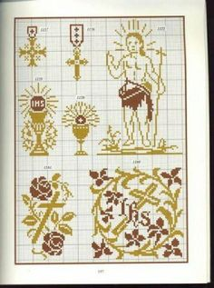 un solo color Catholic Easter, Catholic Crafts, Filet Crochet, Crochet Stitches, Embroidery Art, Cross Stitch Embroidery, Christian Symbols, Easter Cross, Lesage