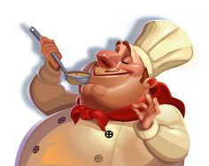 Big Chef Online Slot launches at Euro Palace Casino in May 2015 - visit www.europalace-casino.com for more details Character Concept, Concept Art, Big Chefs, Cg Art, Slot, Euro, Palace, Product Launch, Cartoon