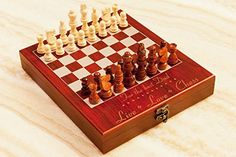 Personalized Chess Set LiveLoveChess Custom Engraved Travel Chess Board Unique Gift for Birthday Anniversary Wedding Engagement ** Details can be found by clicking on the image.