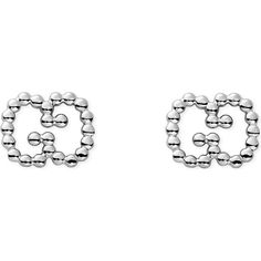 Gucci Sterling silver boule earrings ($190) ❤ liked on Polyvore featuring jewelry, earrings, sterling silver jewelry, sterling silver earrings, gucci, gucci jewelry and fine jewellery