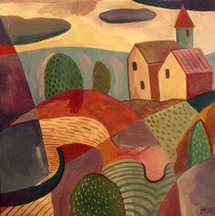 Artist website of Trevor Pye. Artwork title: Dwelling in Landscape 2