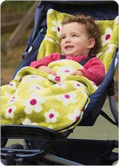 Fleece Stroller Blanket - should make for our stroller