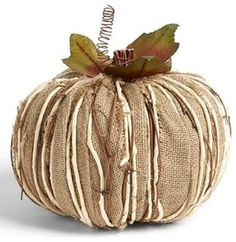 Shea's Wildflower Burlap Pumpkin Decoration, Large - contemporary - holiday decorations - by Nordstrom