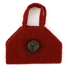 Red Wool Needlecase