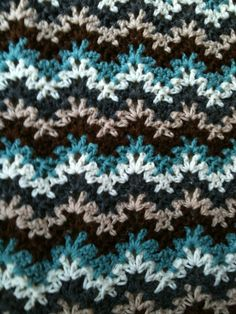 Someone pinned my blanket! Vintage crocheted blanket. Churchmouse? I love it…