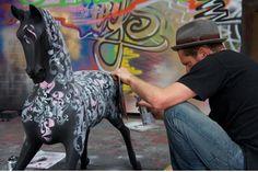Nick Walker Rocking Horse for CHIVA Africa   Rocking Horse News   Stevenson Brothers