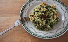 Rizoto s grilovanou zeleninou a tekvicovým olejom