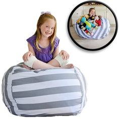 7a79c694d3 bean bag chairs  Creative QT EXTRA LARGE Stuff  n Sit - Stuffed Animal  Storage Bean Bag Chair for Kids - Pouf Ottoman for Toy Storage - Available  in 2 Sizes ...