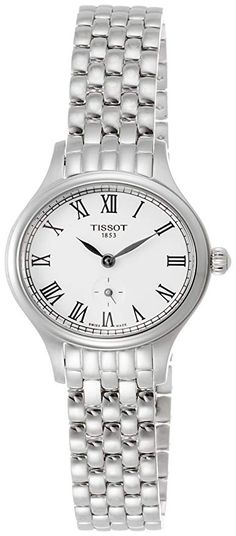 Shop the latest collection of Tissot Bella Ora Piccola Silver Dial SS Quartz Ladies Watch from the most popular stores - all in one place. Omega Ladies, Cartier Tank, Black Leather Watch, Oras, Stainless Steel Watch, Quartz Watch, Watch Bands, Bracelet Watch, Swarovski Crystals