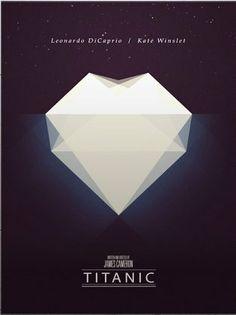 Titanic (1997) ~ Minimal Movie Poster by Christopher Conner #amusementphile