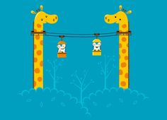 Cute concept. Skyrides from Threadless by Andy Wilhite