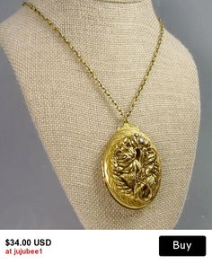 Vintage Victorian Revival Locket Pendant Necklace
