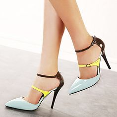Women's Stiletto Heel Pointed Toe Pumps Shoes(More Colors) - USD $ 29.99