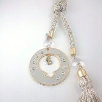 Γούρι Ρόδι Εκρού ΓΟ10117 Washer Necklace, Charms, Jewelry, Fashion, Moda, Jewlery, Bijoux, La Mode, Jewerly