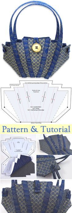 Little Evening Bag Tutorial. Free Pattern & Tutorial http://www.free-tutorial.net/2017/09/little-evening-bag-tutorial.html
