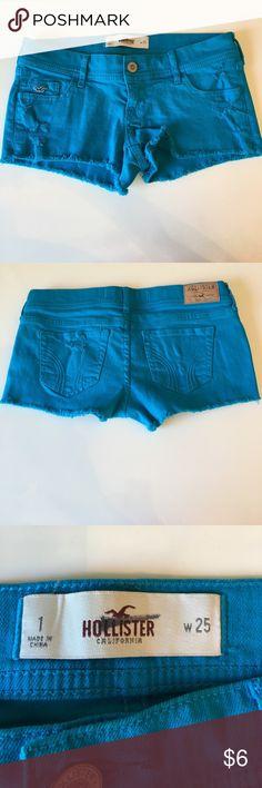 Super cute Hollister jean shorts. Worn once. Hollister Shorts Jean Shorts