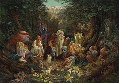 James Christensen - Once Upon a Time (http://www.hiddenridgegallery.com/store/james-christensen/once-upon-a-time.html)