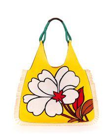 black handbag prada - Prada Floral-Print Nylon Tote Bag, Pink Floral/Neiman Marcus ...